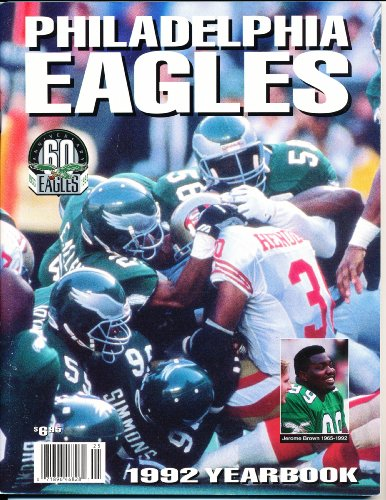1992 Philadelphia Eagles Official Yearbook by Sports Media Inc
