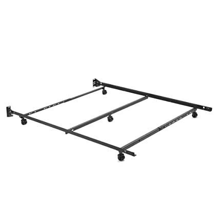 Adjustable Q46R LP Low Profile Bed Frame With Keyhole Cross Arms And 5