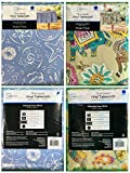 Mainstays Vinyl Tablecloth 70 Round Twin Pack Sea LifeTheme, Elephant Theme
