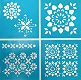 Martha Stewart Crafts Vintage Decor Stencil (8.75 by 9.75-Inch), 33560 Kaleidoscope Flower (4 Sheets with 6 Designs)