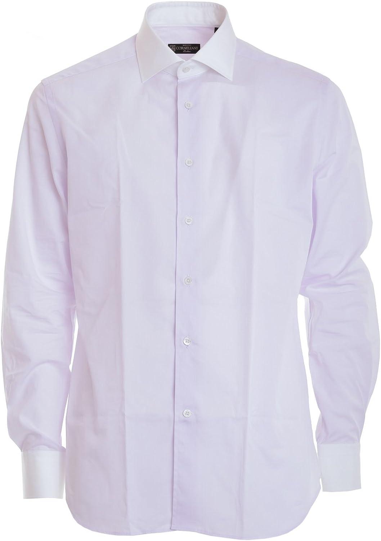 Corneliani Camisa Rosado Claro para Hombre, 44: Amazon.es ...