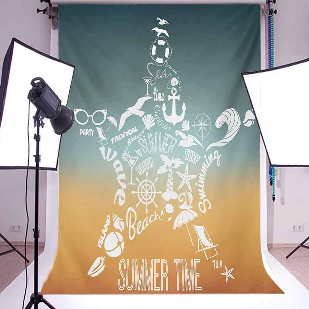 8x10 FT Photography Backdrop Skull with Bones Pirate Symbol Inspired Colorful Motifs on a Dark Toned Backdrop Background for Photography Kids Adult Photo Booth Video Shoot Vinyl Studio Props