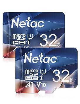 Netac Tarjeta de Memoria de 32GB, Tarjeta Memoria microSDXC(A1, U1 ...