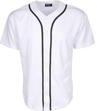 YoungLA Béisbol Jersey Camisetas Plain botón Abajo Deportes Camiseta: Amazon.es: Deportes y aire libre