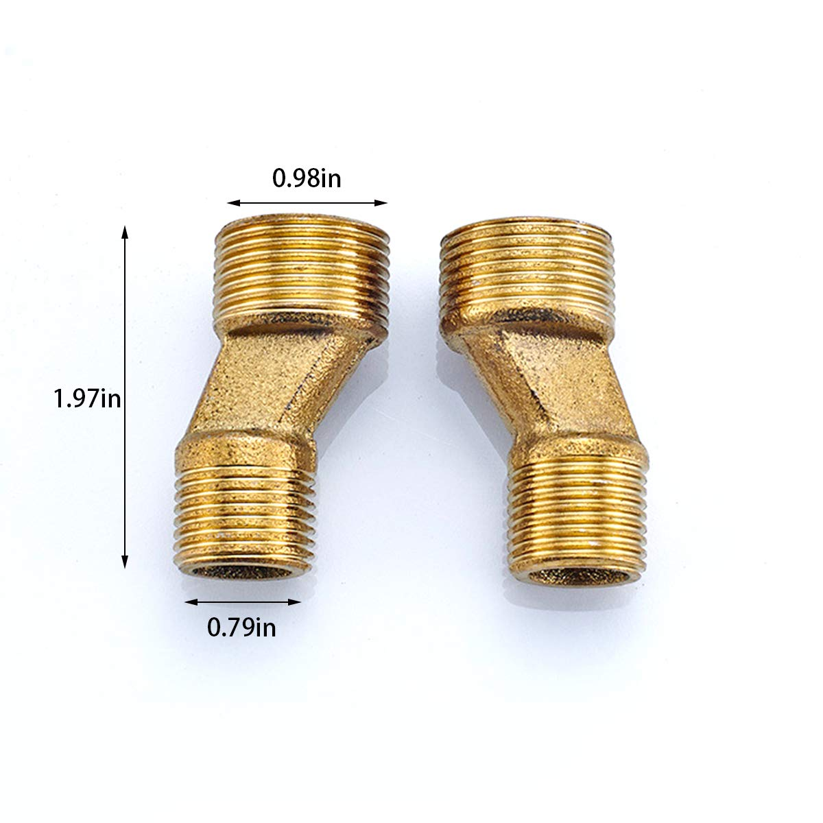 Solid Brass Bend Angle Adapter Faucet Adapter