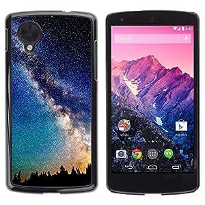 TECHCASE**Cubierta de la caja de protección la piel dura para el ** LG Google Nexus 5 D820 D821 ** Mily Way Galaxy Stars Night Sky Romance