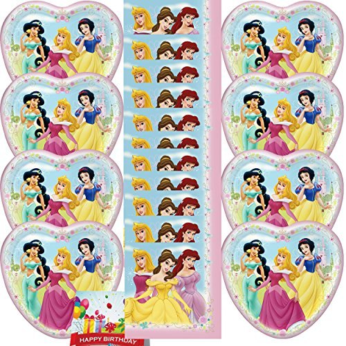- Disney Princess Girls Birthday Party Supplies Dinner Plates & Napkins Bundle