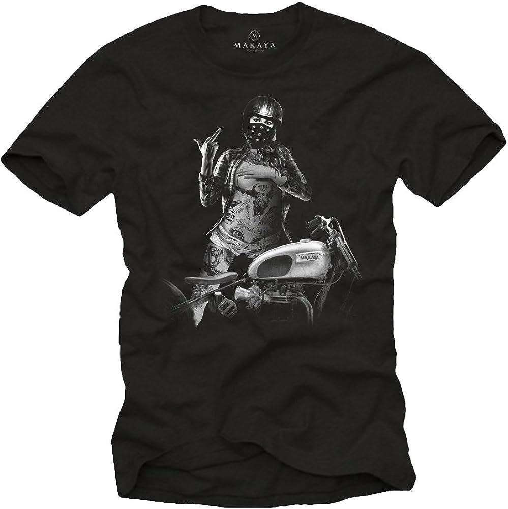 Tee Shirt Casque Moto Homme Vetement de Marque