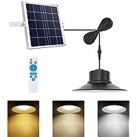 Solar Lights Outdoor, NIORSUN LED Solar Pendant Light 3000K 4000K 5000K  Dimmable Lighting with Remote Control, 16.4ft…