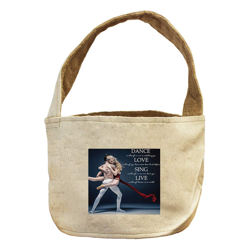 Style in Print Dance, Love, Sing Like Heaven On Earth #1 Canvas and Burlap Storage Basket
