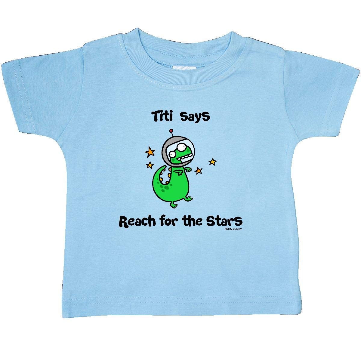 Flossy and Jim inktastic Titi Says Reach for The Stars Baby T-Shirt