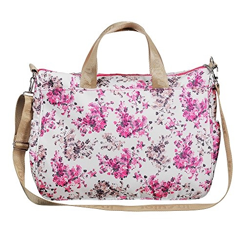 larsuyar 100% algodón 6piezas Baby–Juego de bolso bolsas de pañales para bebé, para las niñas, 42cm por 37cm por 14cm Grün Blume rosa