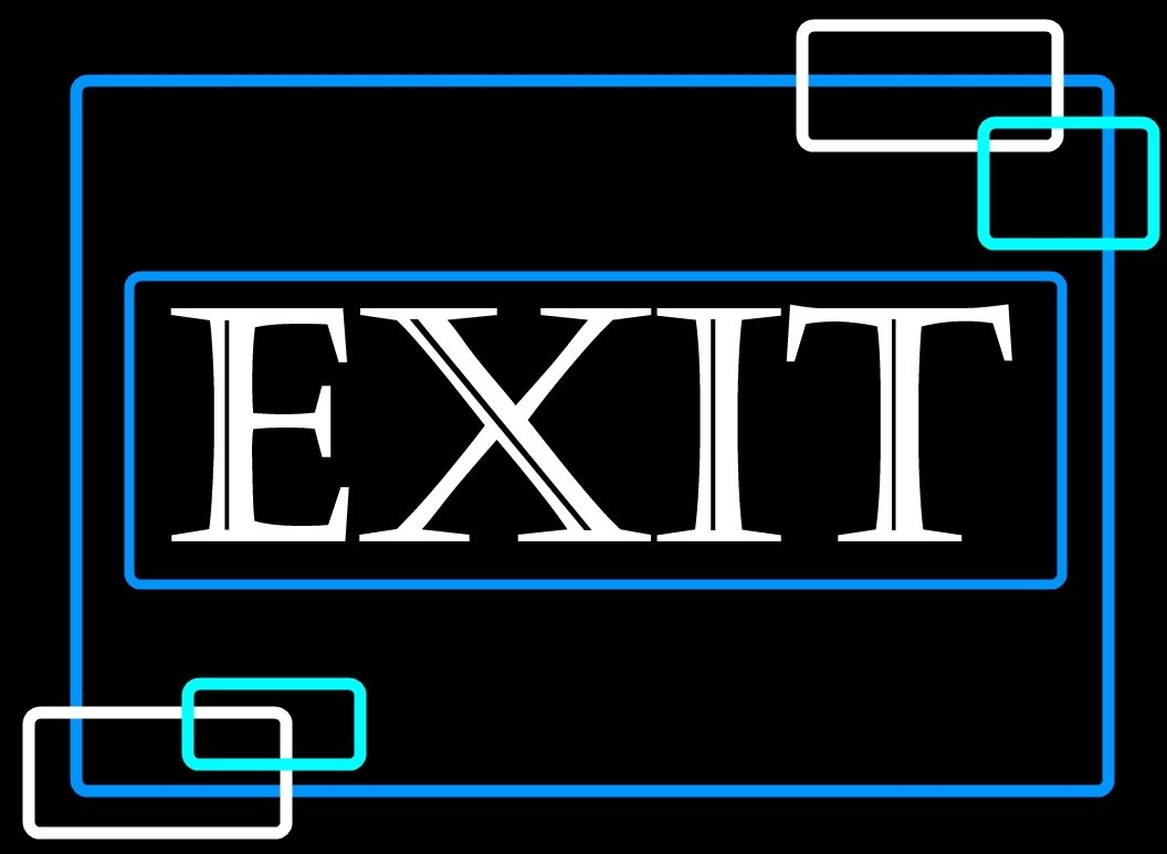 Porta-Trace Decorative LED Lit Sign with Exit Logo, 14-Inch, White