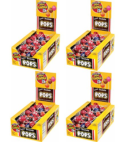 Tootsie Roll Tootsie Pops, Assorted Flavors ToqaxuJ, 100 Count (4 Pack) by Tootsie Roll