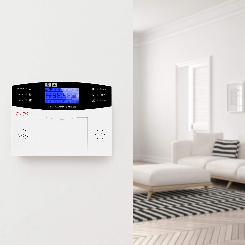 D1D9 Burglar Alarm System Wireless DIY GSM Auto Dialer for House Apartment Home Security