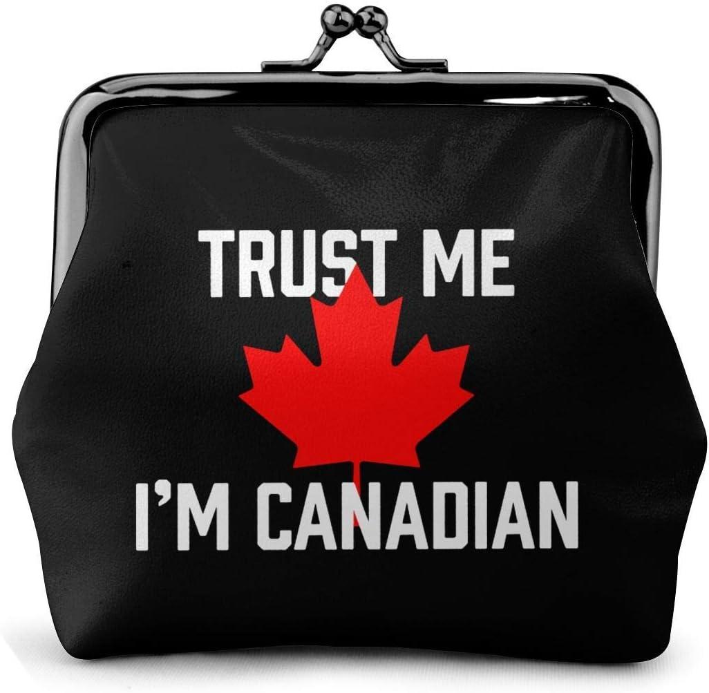 Cash Card Holder,Trust Me I'm Canadian Maple Leaf Pu