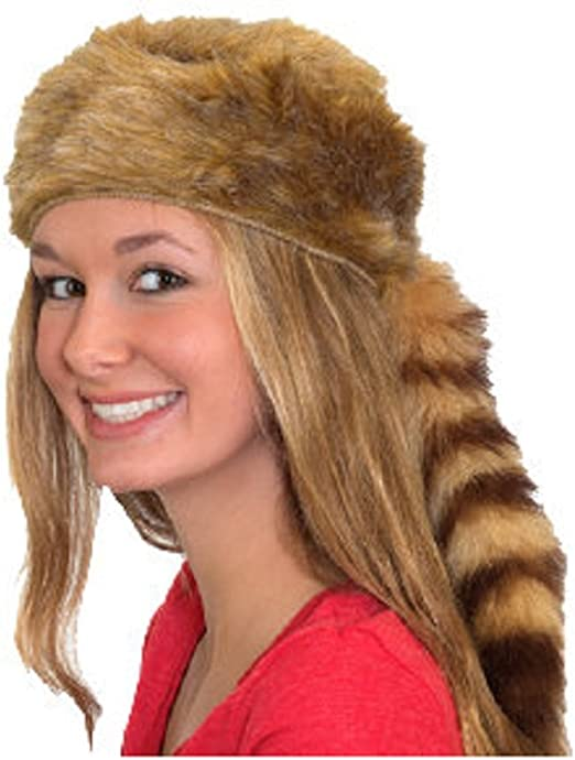 Davy Crockett or Daniel Boon Style Coon Skin Hat with Real Tail