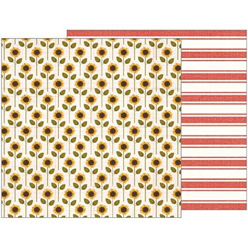 "Jen Hadfield Warm & Cozy Double-Sided Cardstock 12""X12""-Sunflower Days - Case Pack of 25"