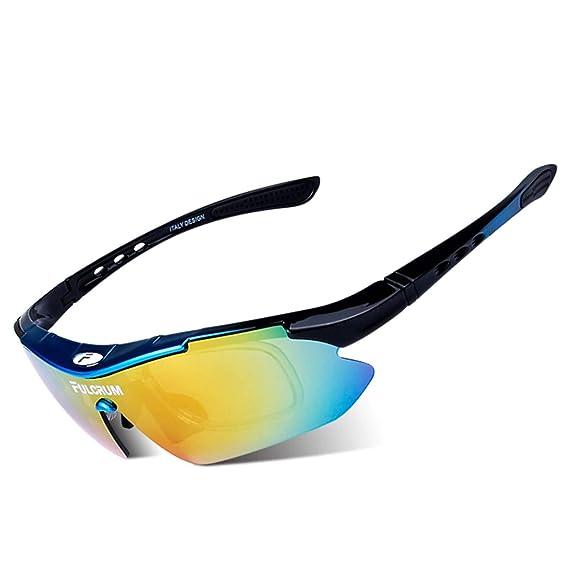 Daesar Gafas de Sol Azul Negro Gafas de Hombre Gafas de ...