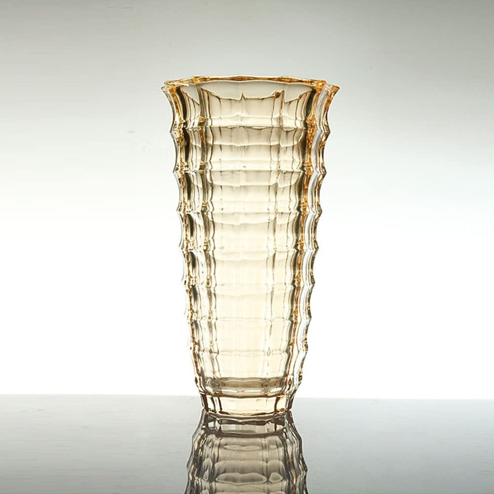 European Crystal Flower Vase Cut Glass Colorful Vase Mantelpiece Hard Wearing Screw Simple Modern For Water Planting Or Dinner Table B W5xh9 5inch 13 5x24cm Home Kitchen