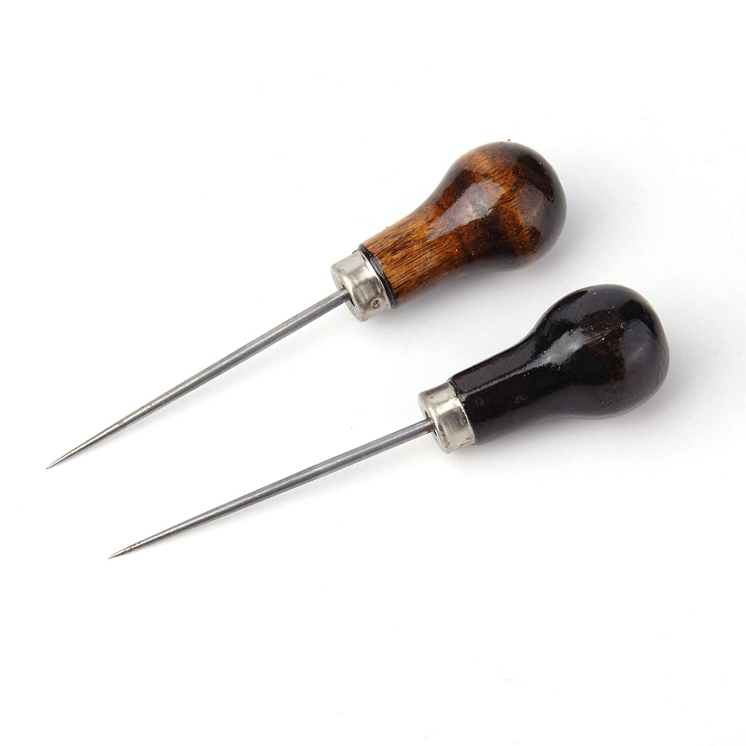 4pieces Sansheng Wood Handle Cucurbit Leather Craft Cloth Wood Handle Scraping Taper Tool//Taper Tool Needle Punch Leather Bag Hole DIY Handmade