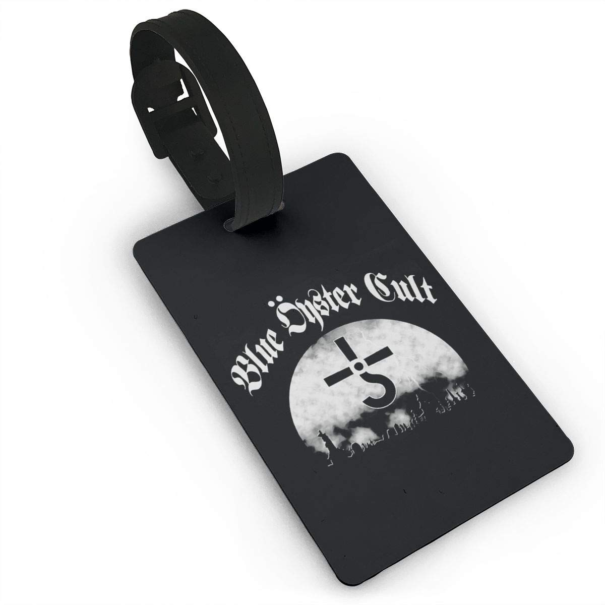 TDHGRJS Blue Oyster Cult PVC Luggage Tags Travel Baggage Labels with Adjustable Strap