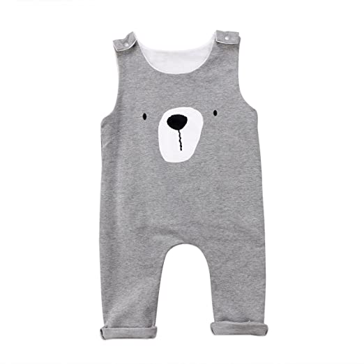 bb4d99437 Emmababy Newborn Infant Baby Boys Sleeveless Harem Romper Jumpsuit Outfits  Overall Clothes One-Piece Bodysuit