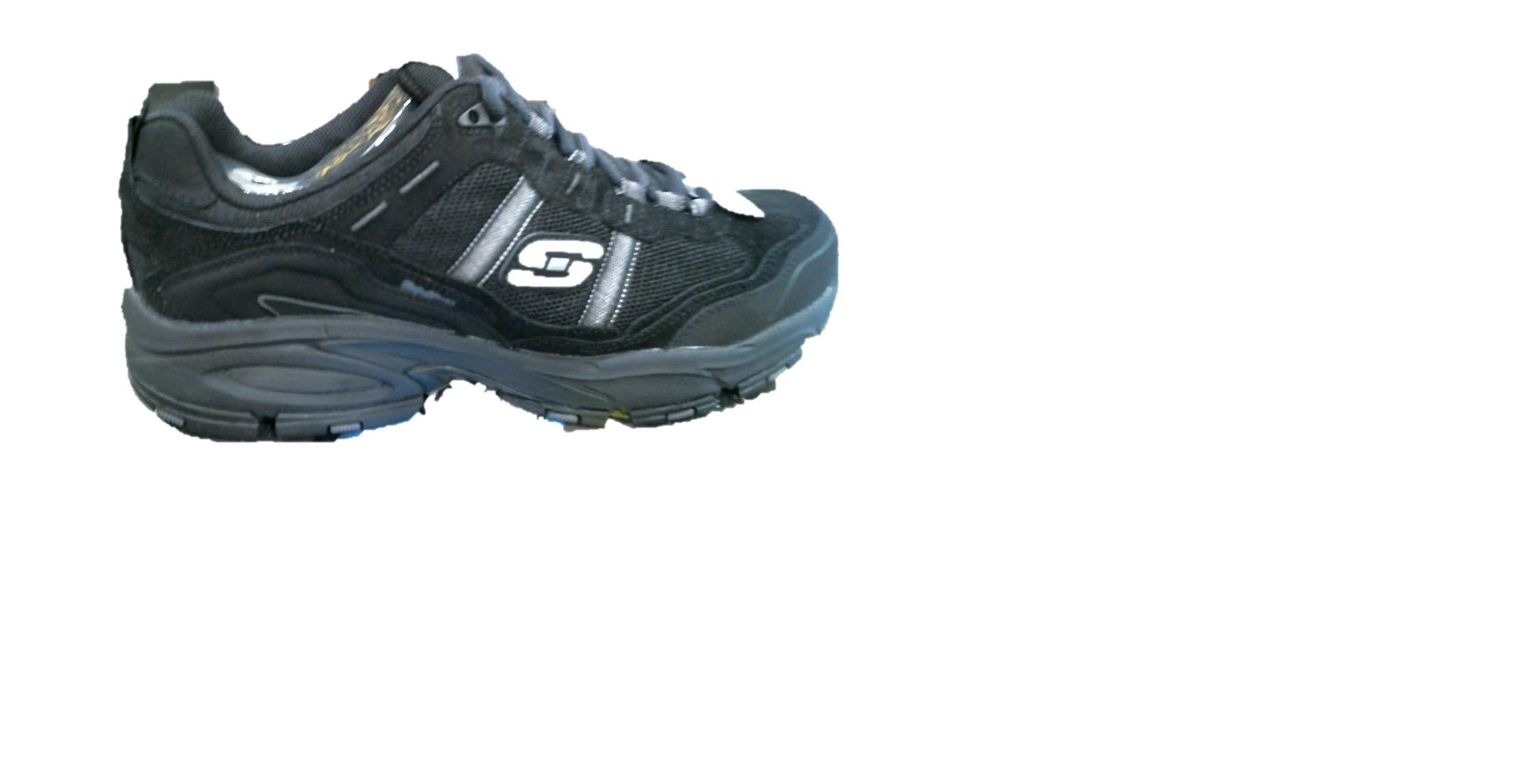 Skechers Sport Men's Vigor 2.0 Trait Memory Foam Sneaker, Black, 7 M US by Skechers (Image #1)