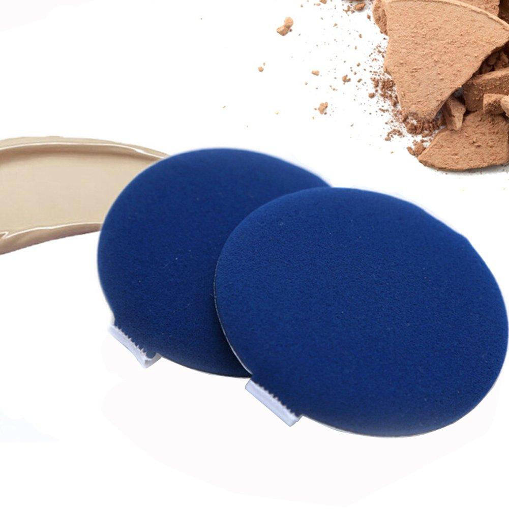 6 PCS Wet und Dry Make-up-Schwamm mit doppeltem Verwendungszweck Dämpfung Puderquaste für BB CC Creme Liquid Foundation powder- Ihr Make-up Look wird mehr natürliche (blau) Elandy
