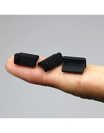 Kebinfen® 20 Piezas Negro Silicona Tapa del Puerto USB tapón Antipolvo Anti para USB Tipo