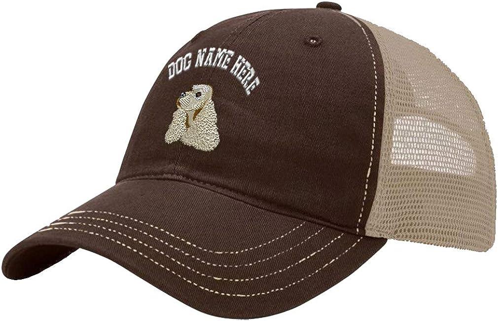 Custom Trucker Hat Richardson Cocker Spaniel Head Embroidery Dog Name Cotton