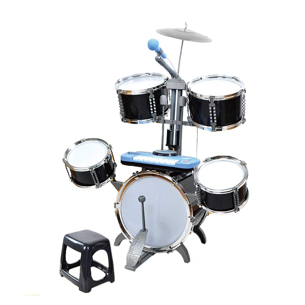 新作人気モデル DUWEN 子供のドラム3-6歳の初心者のドラムセットスラムとドラムスティックミュージカル玩具楽器 (色 : : DUWEN B07KWRZ46Z 黒) 黒 B07KWRZ46Z, ランジェリーショップ Clover:79f33425 --- a0267596.xsph.ru