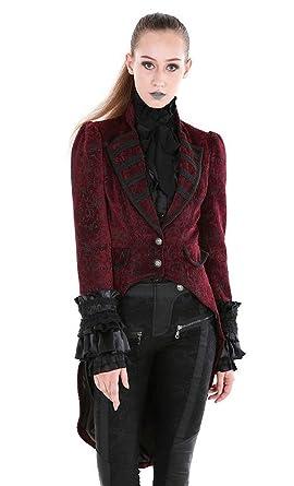 Manteau Veste Velours Bordeau Rouge à Motif Noir élégant