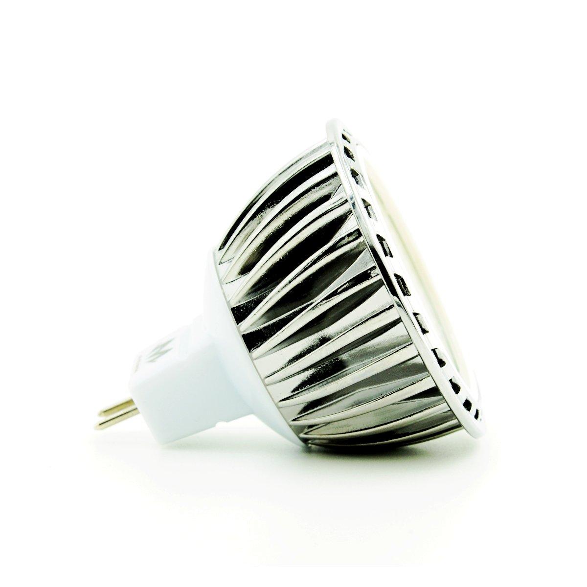 Cob Led,MR16 Spotlight,GU5.3 LED MR16 Size,350lm,12V,60/° M02013W0 6-pack,Warm White Mylite 5W MR16 LED Bulb Light,50W Halogen Lamp Replacement