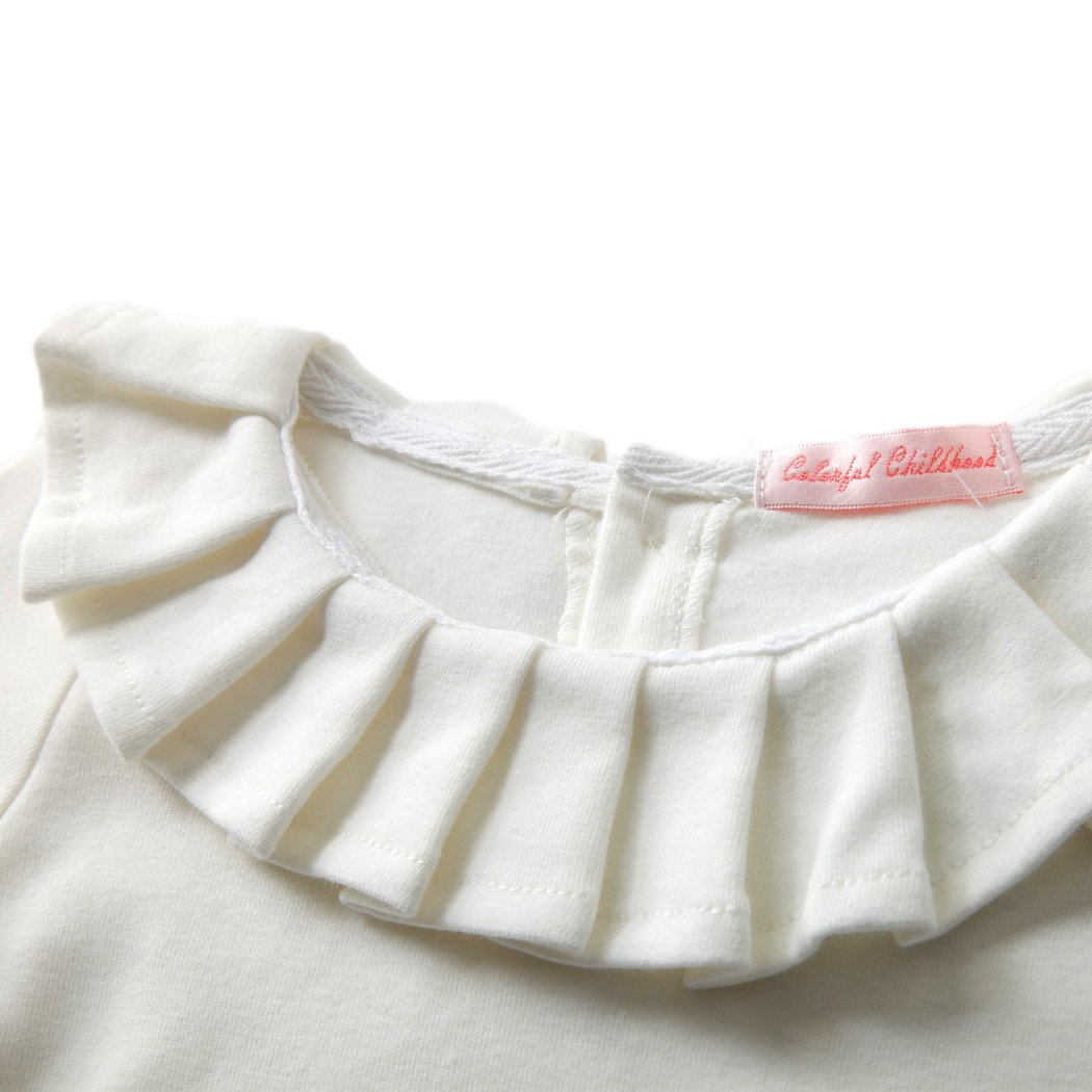 Colorful Childhood Baby Girls T Shirts Infant Princess Girl Ruffles Tees Cotton Tops