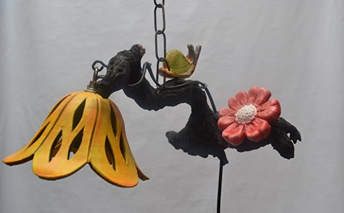 Lampada Fiore Tulipano : Lampada da parete in legno lumaca fiore: amazon.it: handmade
