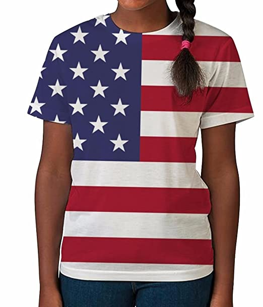 c0f5d07b Amazon.com: Bang Tidy Clothing Kids Graphic Tee Youth T Shirt American Flag  Clothes for Girls: Clothing
