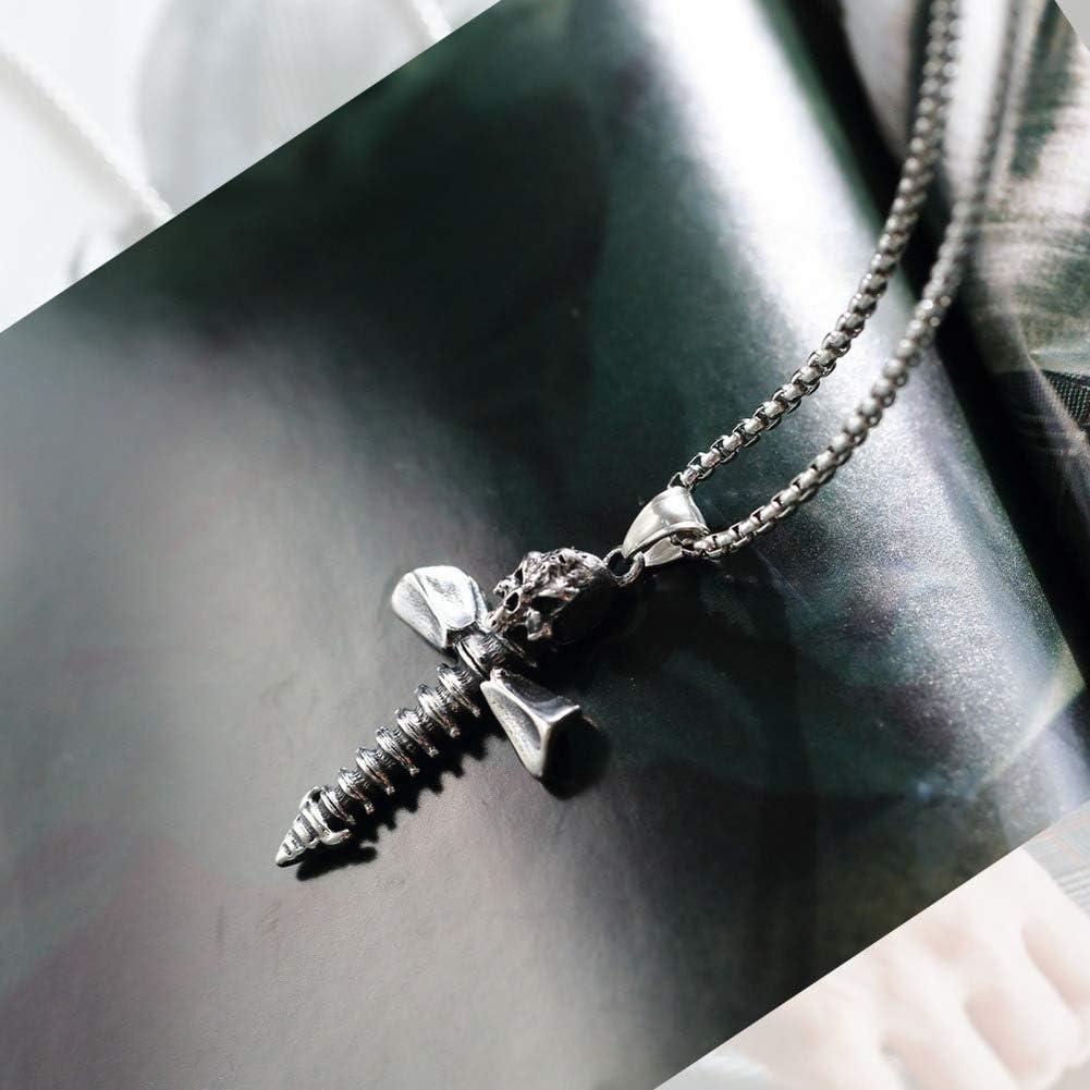 Wyanger Fashion Titanium Steel Necklace Vintage Hip Hop Punk Pendant Necklace