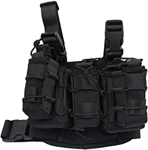 LytHarvest Compact Leg Rig, Military Utility Gear Multi Purpose Drop Leg Molle Pouch Platform Rig with Detachable Mag Pouch