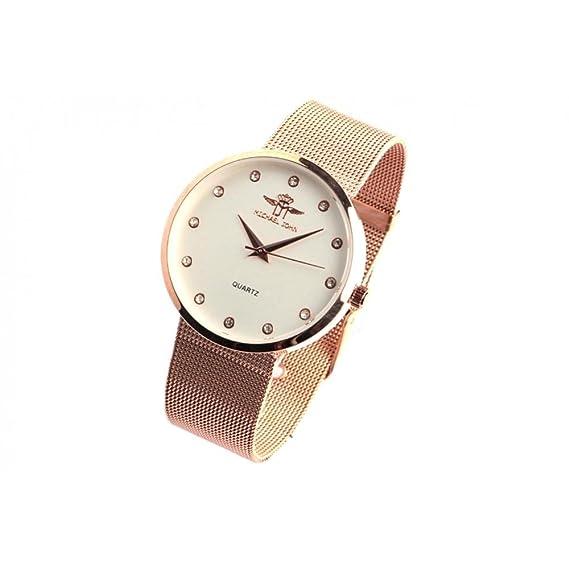 Reloj mujer dorado malla Milanaise y cristal Glamy - Mujer: Amazon.es: Relojes