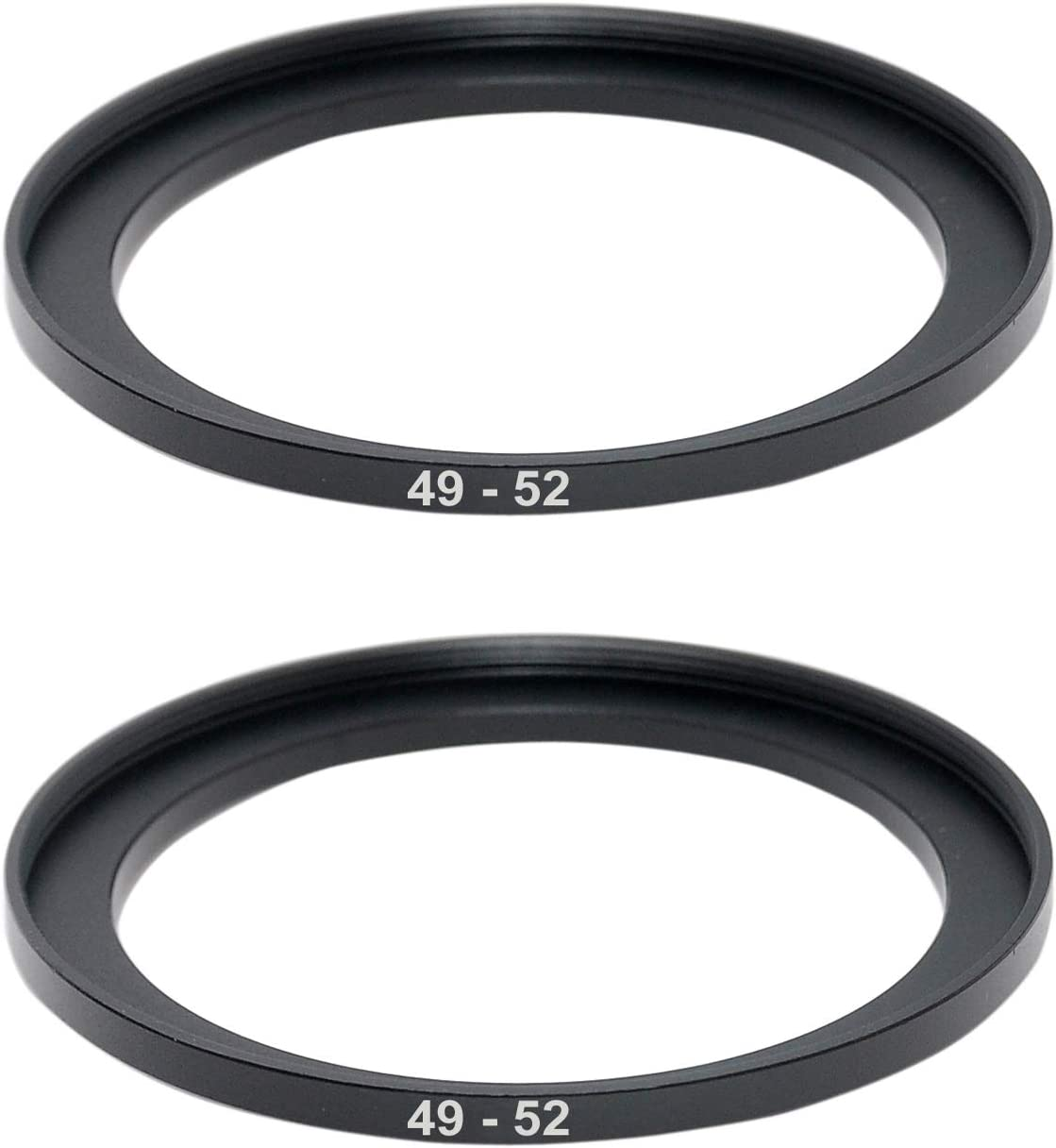 (2 Packs) 49-52MM Step-Up Ring Adapter, 49mm to 52mm Step Up Filter Ring, 49mm Male 52mm Female Stepping Up Ring for DSLR Camera Lens and ND UV CPL Infrared Filters