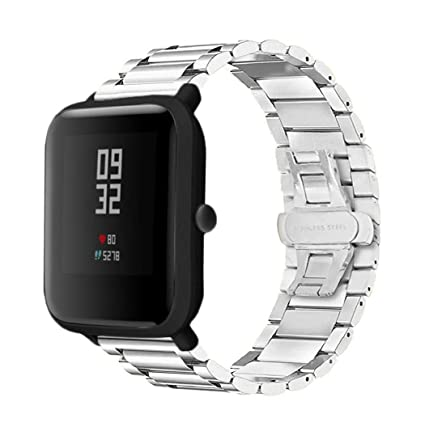 Amazon.com: Cywulin Stainless Steel Band for Xiaomi Huami ...