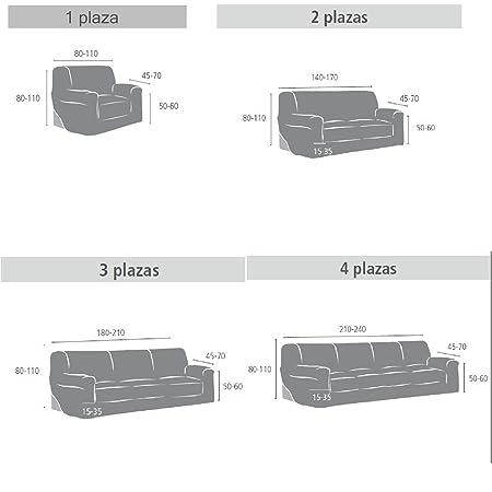 Innovaciones Roser Funda de Sofá Elástica Modelo Rosario, Color Crudo, Medida 3 Plazas – 180-210cm