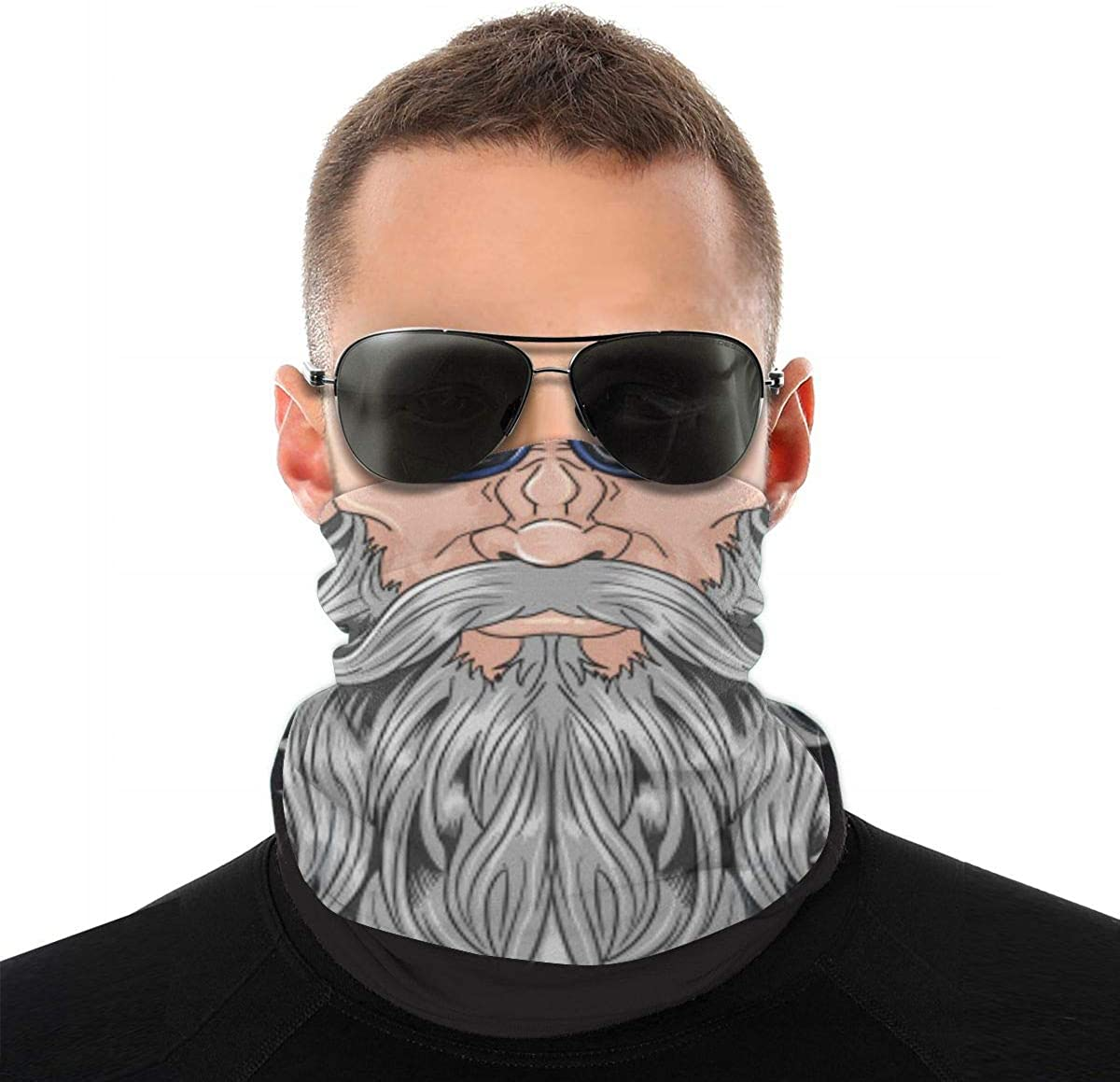 When I Shaved My Beard-Nobody Know Me Neck Ear Face Mask Light Breathable Neck Gaiter Windproof Bandanas For Men Women Teens Outdoor All Season