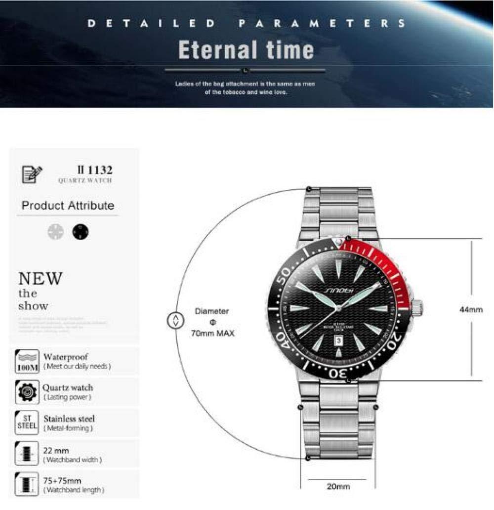 Armbandsur, vattentät lysande kalender affärsmode kvartsur BLÅ