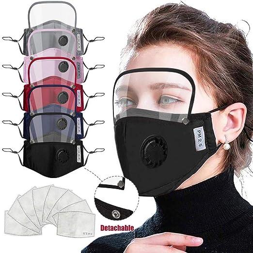 IUTE 𝗠𝗔𝗦𝗖𝗔𝗥𝗜𝗟𝗟𝗔𝗦 Algodón Reutilizables con Pantalla Protección Facial y 10 Filtros para Mujeres, Lavables: Amazon.es: Hogar
