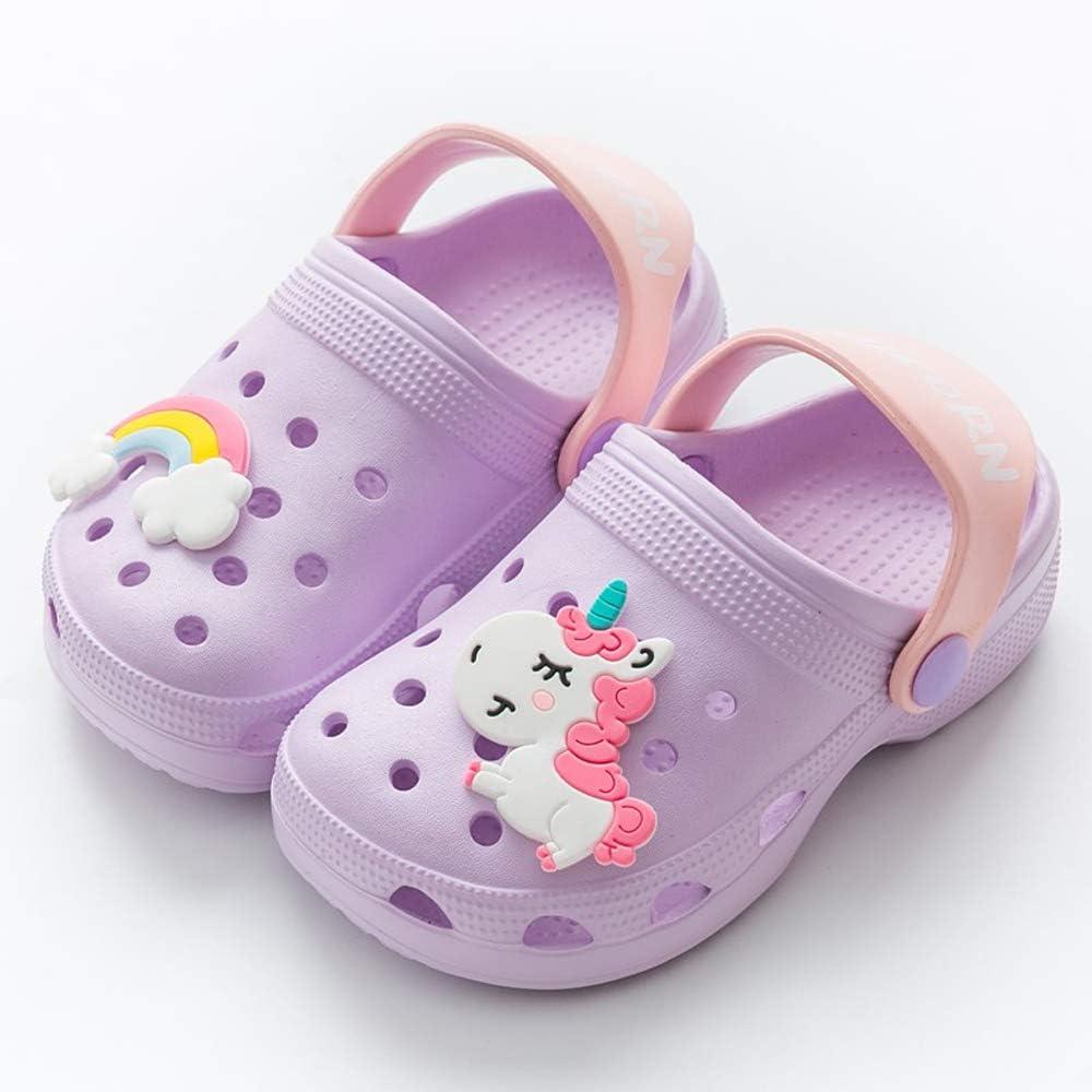 Coralup Kids Summer Beach Clogs Mules Girls Unicorn Slipper Boys Slip-On Sandals