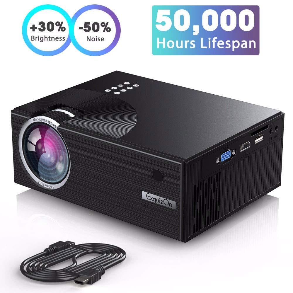 Proyector, 1800 lúmenes LED Proyector de video Proyector LCD ...