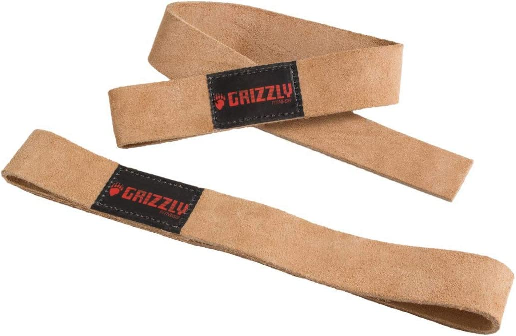 Iron Tanks Spartan Leather Weightlifting Straps BlackGym Workout Deadlift