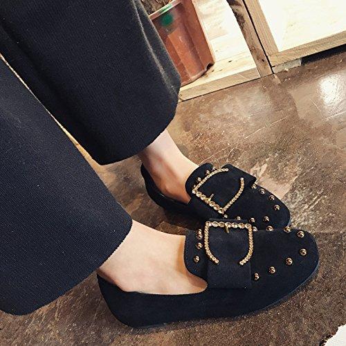 Zapatos Zapatos Los Pie Agua Zapatos D Zapatos Primavera Mujer De Lazy Puso De Zapatos GAOLIM Fondo Taladro De Bajo Plano Solo De Mujer Zapatos De Bones Zapatos wxP0Z1qHY